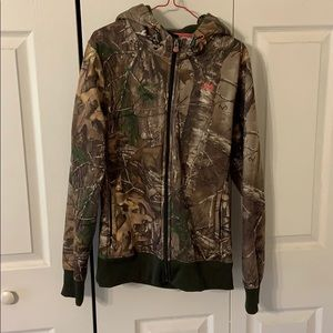 Under Armour camo zip up hoodie